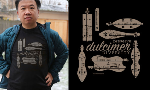 Hearts of the Dulcimer Diversity t-shirt