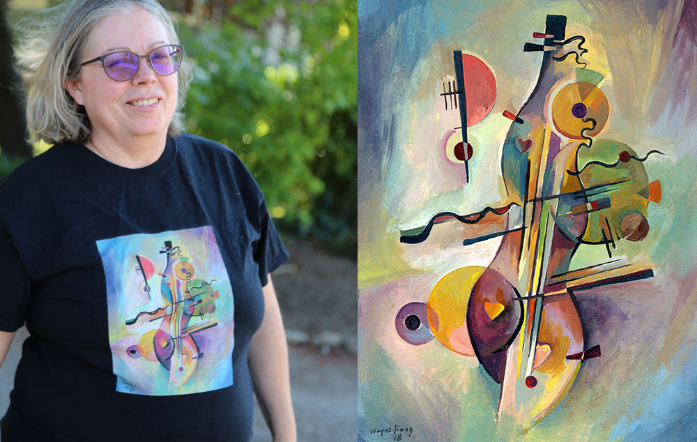 Hearts of the Dulcimer Kandinsky t-shirt